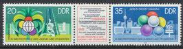2345-2346 postfrisch Dreierstreifen (DDR)