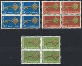 PT 1051-1053 postfrisch Viererblocksatz
