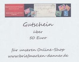 Geschenkgutschein im Wert von Euro 50,00