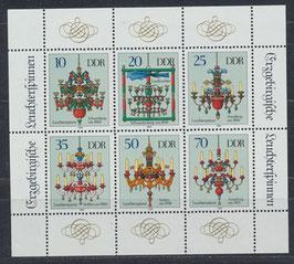DDR 3289-3294 postfrisch Kleinbogen