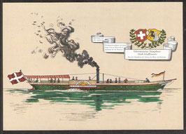 """Postkarte """"Schweizerisches Dampfboot Stadt Schaffhausen""""  (PK-Schiff-0007)"""