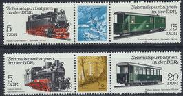 DDR 2629-2632 postfrisch Dreierstreifen (2 Stück)