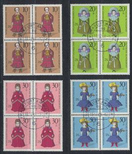 BRD 571-574 gestempelt Viererblocksatz
