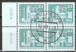 2521 RWZ I Versandstellenstempel Viererblock (DDR)