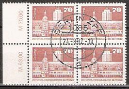 2602 RWZ I Versandstellenstempel Viererblock (DDR)