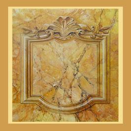 Sjaal ca. 140x140 Jaune de Sienne