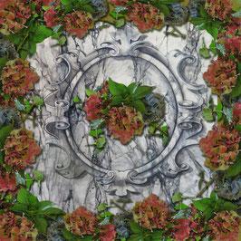 Sjaal ca. 140x140  hortensia