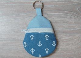 Schlüsselanhänger Nähset, hellblau Anker