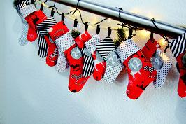 """Adventskalender """"Socken"""" Nähset"""