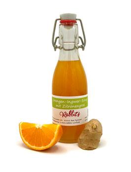 Orangen-Ingwer- Sirup mit Zitronengras