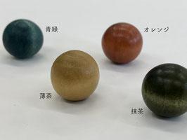 くし型口金×16mm木玉②(薄茶/抹茶/青緑/オレンジ)