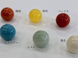 角丸型口金×16mmプラスチック玉②(マーブルカラー)