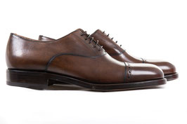 Cap toe oxford in dark brown