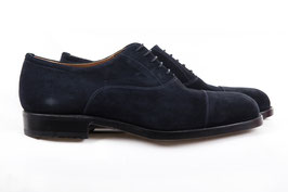 Cap toe oxford in nubuck blue