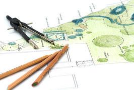 Gartengestaltung eines bestehenden oder geplanten Objektes in einem ganzheitlichen Konzept