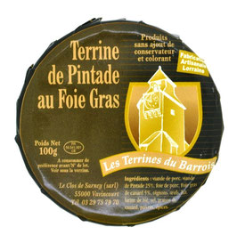 Terrine de pintade au foie gras 100g.