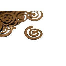Confettis Spirale Marron