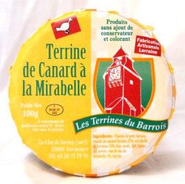 Terrine de canard à la Mirabelle 100g.