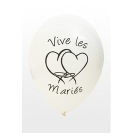 8 Ballons Vive les Mariés