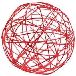 12 mini boules rotin effet métallisé