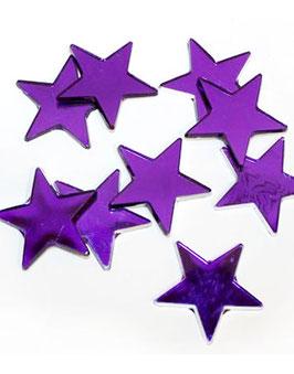 10 étoiles miroir violettes