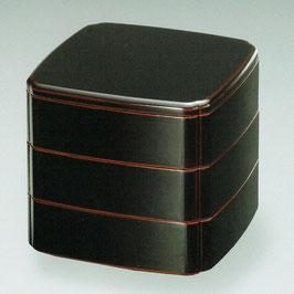3108-7 溜内朱 木瓜三段重箱