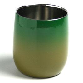漆塗りステンレスカップSUSUCUP 青漆ぼかし 若草ぼかし