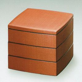 3106-6 能登上布 朱胴張三段重箱