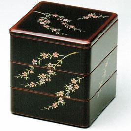 19-72-1 溜内朱 6寸 三段重 桜花
