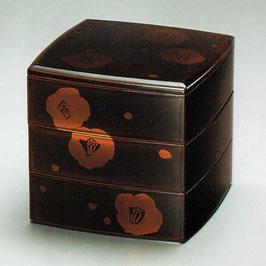 3108-5 雪椿白檀 三段重箱