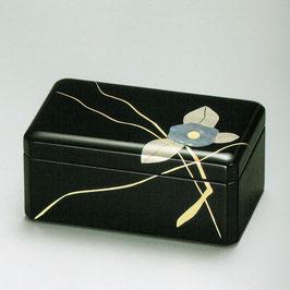 3091-3 アクセサリーボックス 黒 貝椿