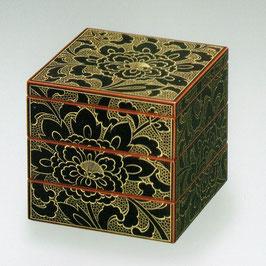 3106-1 ボタン彫姫重箱