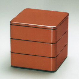 3107-06 吟朱内黒 三段重箱