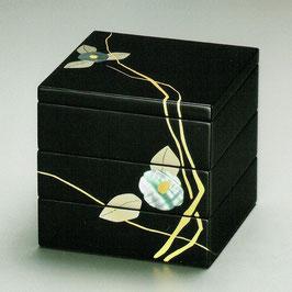 3106-3 貝椿 三段重箱