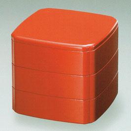3108-8 朱内黒 木瓜三段重箱