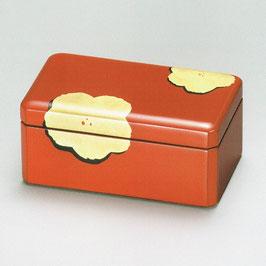 3090-5 草花彫詰 朱 小箱