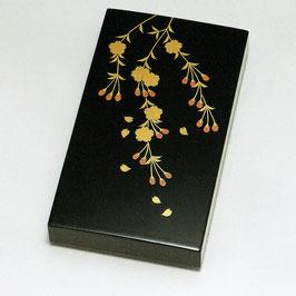 3089-4 しだれ桜花 硯箱