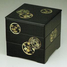O73-3 黒内朱 6寸5分 共足三段本重 花丸