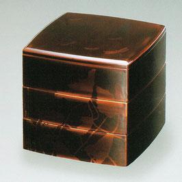 3108-4 6寸 蓮 白檀 三段重箱