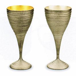 C92-4 ワインペアカップ 銀嵯美 内金・銀箔