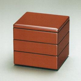 3107-04 朱内黒 いちねん重箱