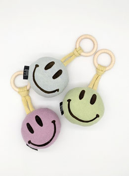 SMILEY Rattle with teething ring