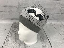 """Mütze """"Panda"""" grau"""