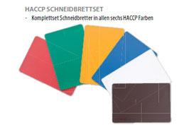 STALGAST Schneidbrett HACCP Paket mit allen 6 HACCP-Farben