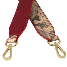 Bag Strap Python beige/rot