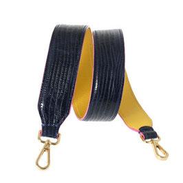 Bag Strap dunkelblau/gelb