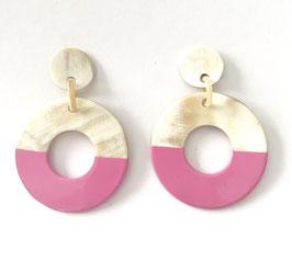 Hornohrringe HOL-ER Donut 12 pink