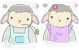 mr & mrs sheep {plottervorlage} (einzeln oder als 2er set)