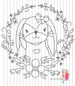 bunny_girl - DIY vorlage für fensterbild {free printable}