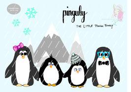 pinguly - the little pingu-family {plottervorlage}